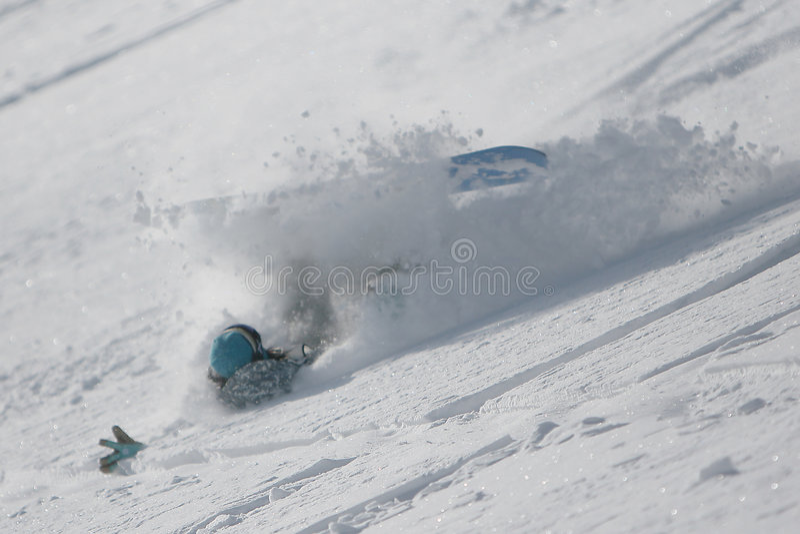Caduta dello Snowboarder immagini stock libere da diritti