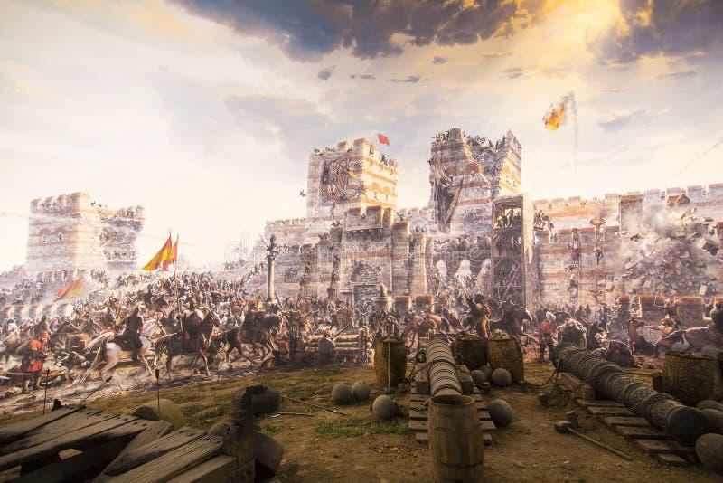 Caduta di Costantinopoli nel 1453 fotografia stock libera da diritti