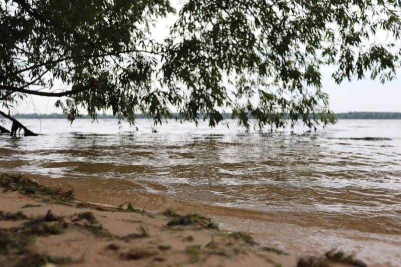 Caduta di pietra naturale della sabbia dell'acqua del paesaggio fotografia stock