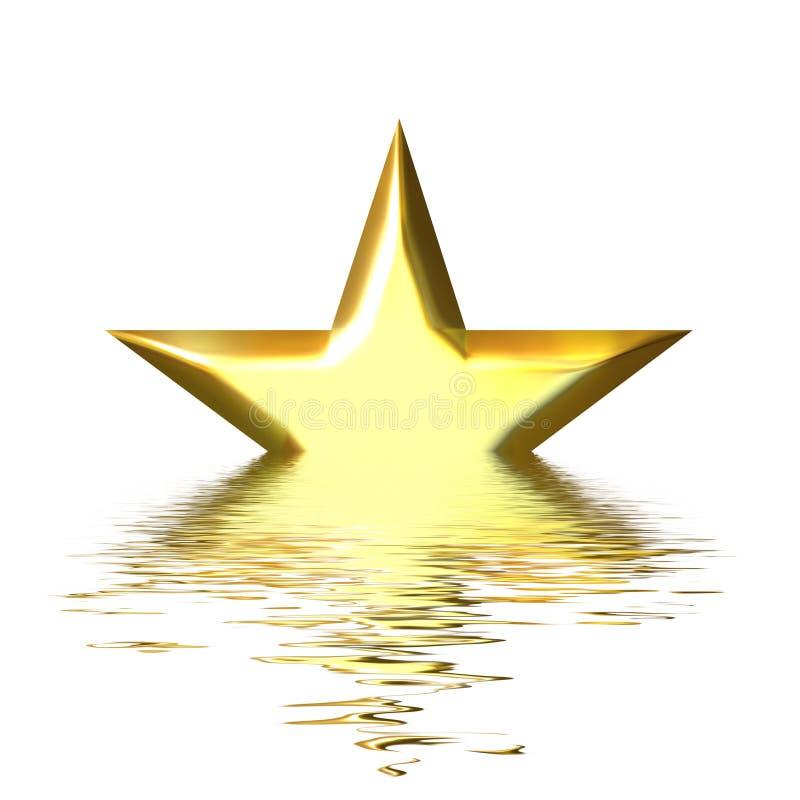 Caduta di una stella illustrazione di stock