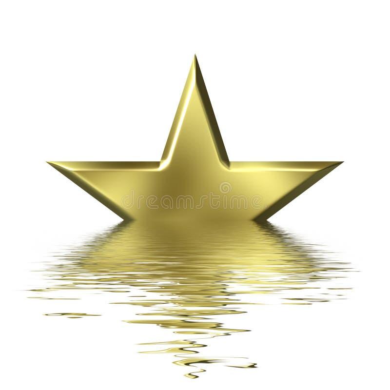 Caduta di una stella illustrazione vettoriale