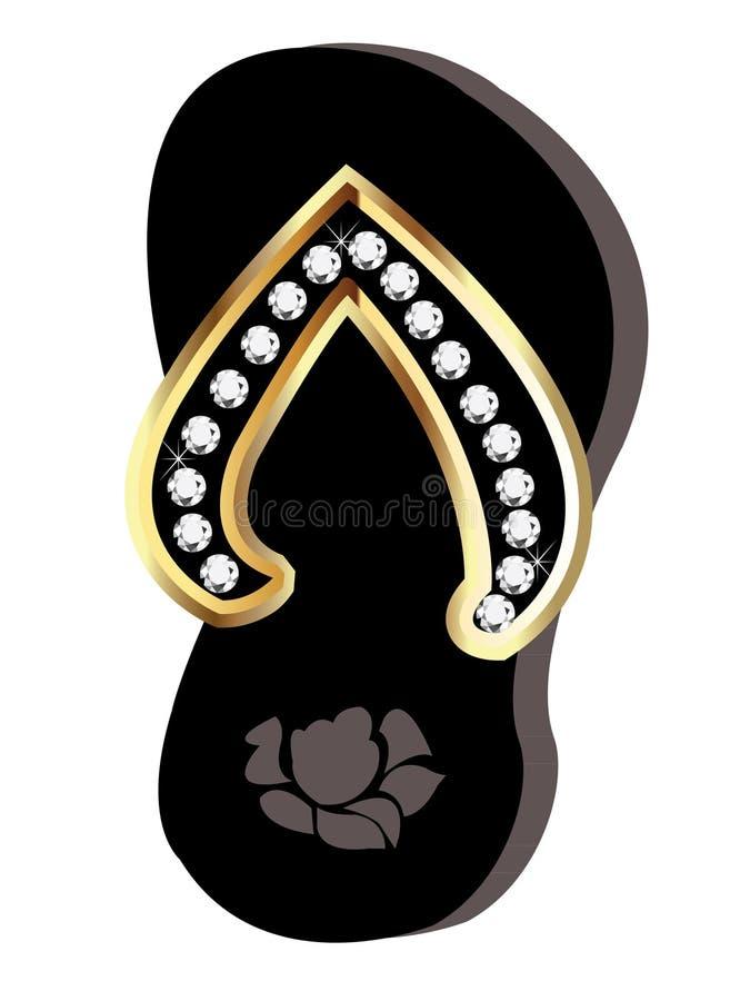 Caduta di vibrazione o sandali royalty illustrazione gratis