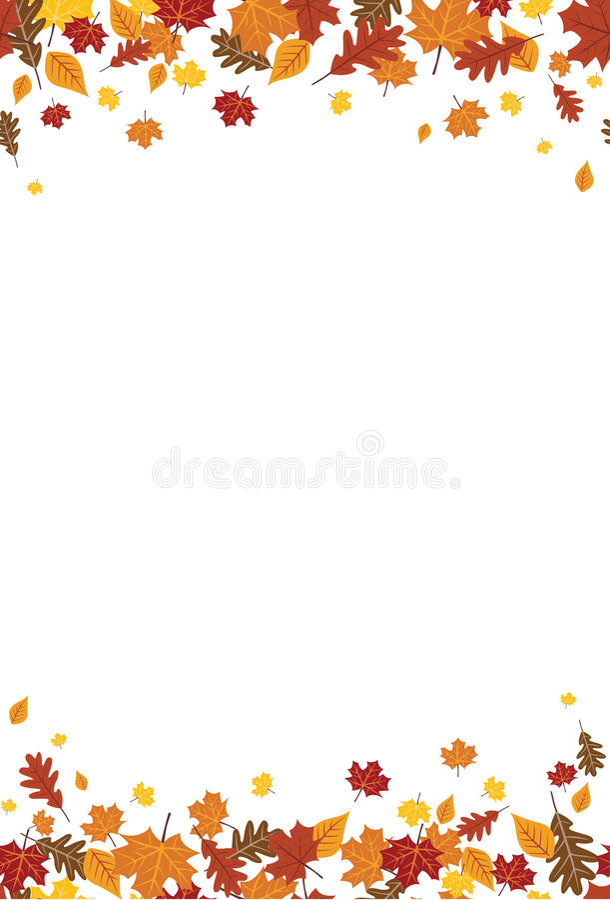 Caduta luminosa senza cuciture Autumn Leaves Vertical Border 1 illustrazione di stock