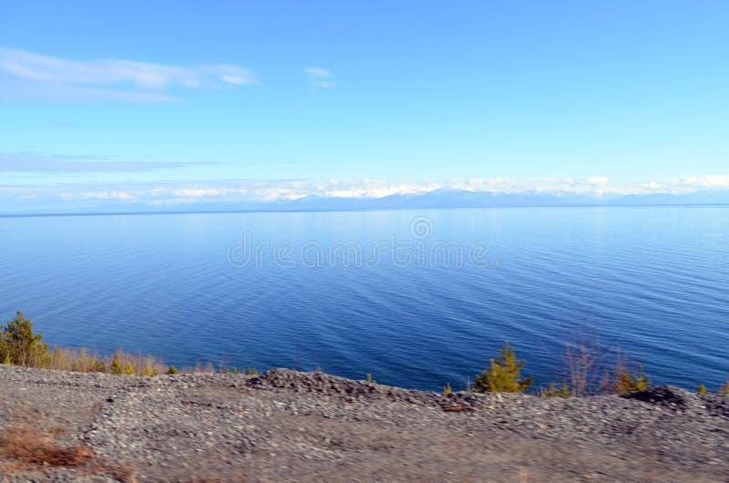 Caduta in profondità in Russia, il lago Baikal fotografie stock libere da diritti