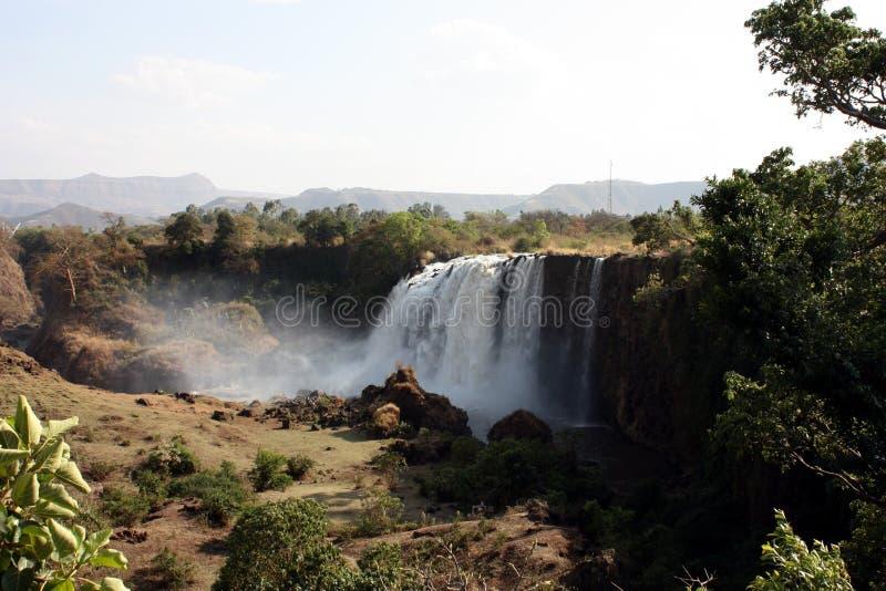 Cadute blu del Nilo fotografia stock