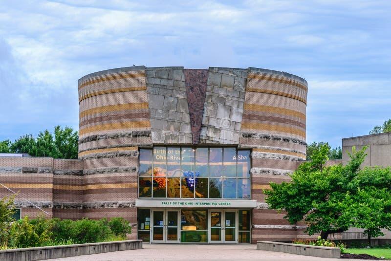 Cadute del centro esplicativo dell'Ohio immagini stock libere da diritti