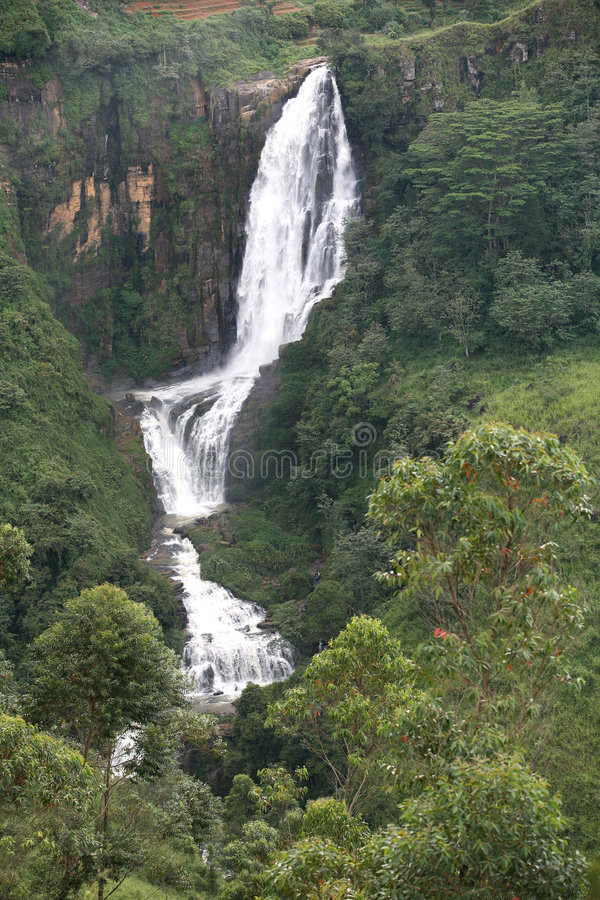 Cadute del Devon, Sri Lanka fotografie stock