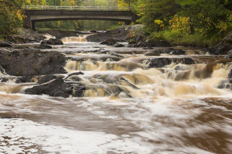 Cadute del fiume di Amnicon fotografie stock