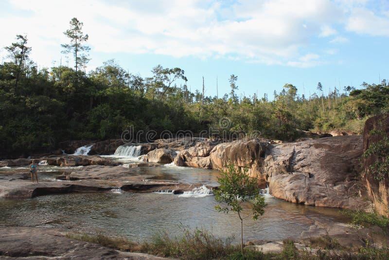 Cadute del fiume di Macal, Belize immagini stock