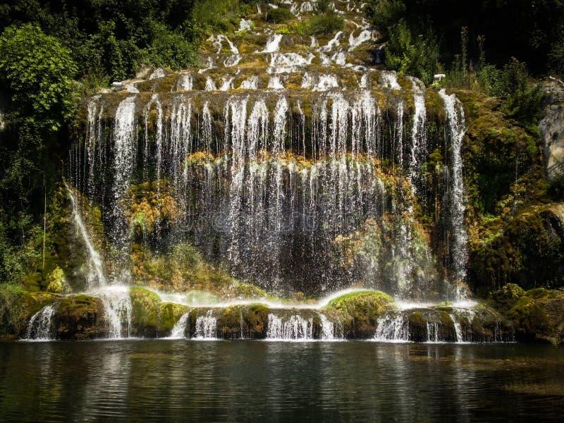 Cadute del parco del fiume di Caserta Italia fotografia stock libera da diritti