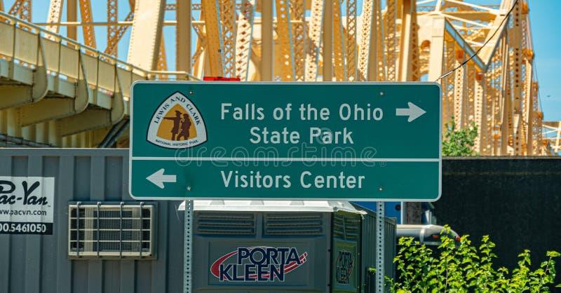 Cadute del parco di stato dell'Ohio a Louisville - LOUISVILLE U.S.A. - 14 GIUGNO 2019 immagine stock