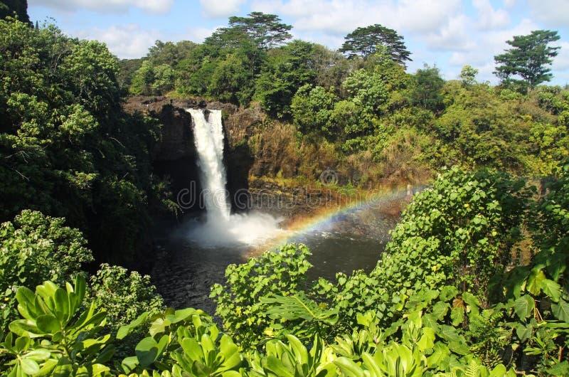 Cadute del Rainbow (grande isola, Hawai) 02 immagini stock libere da diritti