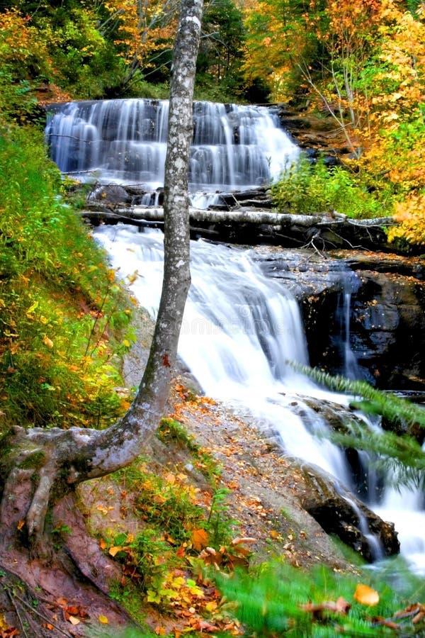 Cadute dell'acqua del Michigan fotografia stock libera da diritti