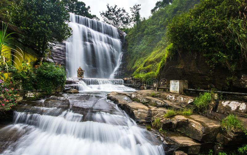 Cadute di Dunsinane, Sri Lanka fotografia stock libera da diritti