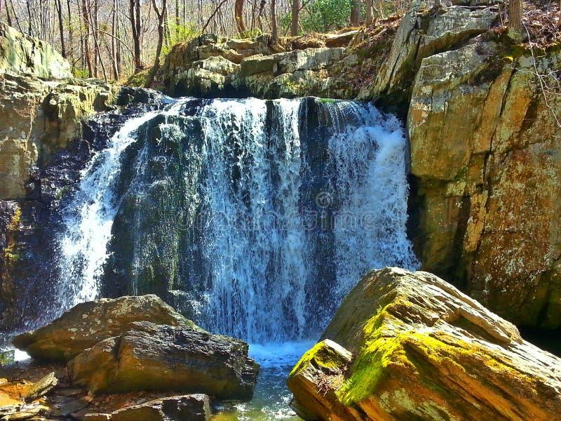 Cadute di Kilgore, parco di stato delle rocce, Maryland immagine stock
