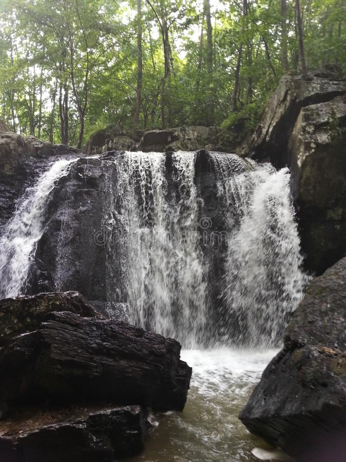 Cadute di Kilgore, parco di stato delle rocce, Maryland fotografia stock libera da diritti