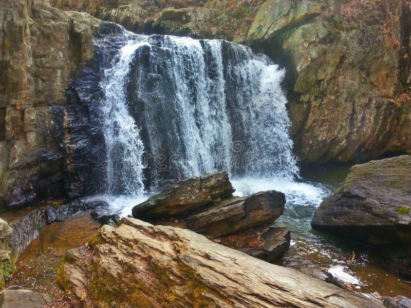 Cadute di Kilgore, ramo di caduta, parco di stato delle rocce, Maryland fotografie stock