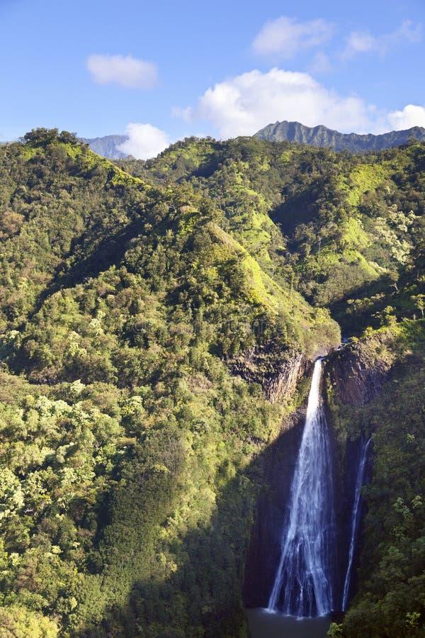 Cadute di Manawaiopuna, Kauai, Hawai immagini stock