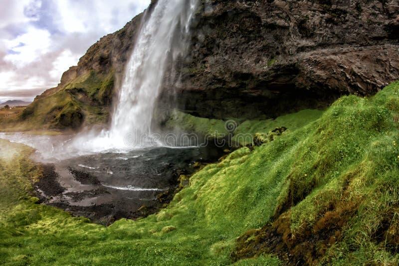 Cadute di stordimento Seljalandsfoss fotografie stock libere da diritti
