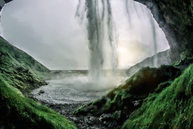 Cadute di stordimento Seljalandsfoss immagini stock