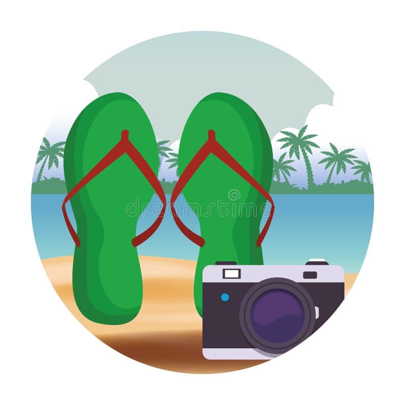 Cadute di vibrazioni con la macchina fotografica royalty illustrazione gratis