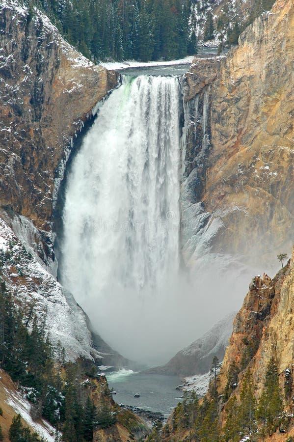 Cadute più basse del Yellowstone immagini stock libere da diritti