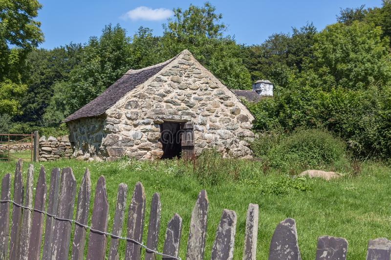 Cae Adda byre, St Fagans National History Museum, Cardif,Wales. Open-air museum in cardif. It consist re-erected buildings from varios location in Wales. Cae stock photos