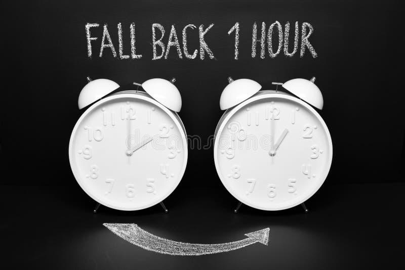 Cae detrás el cambio de Autumn Time del concepto imágenes de archivo libres de regalías