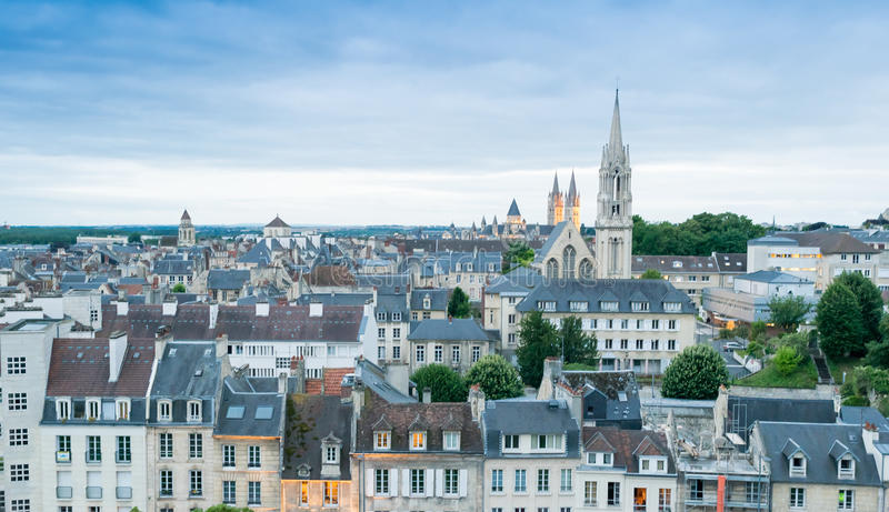 Caen City View From Chateau Top France Stock Photo Image of