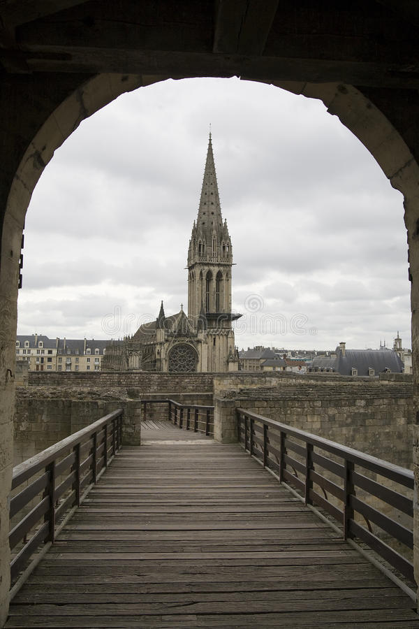 Caen en France image stock