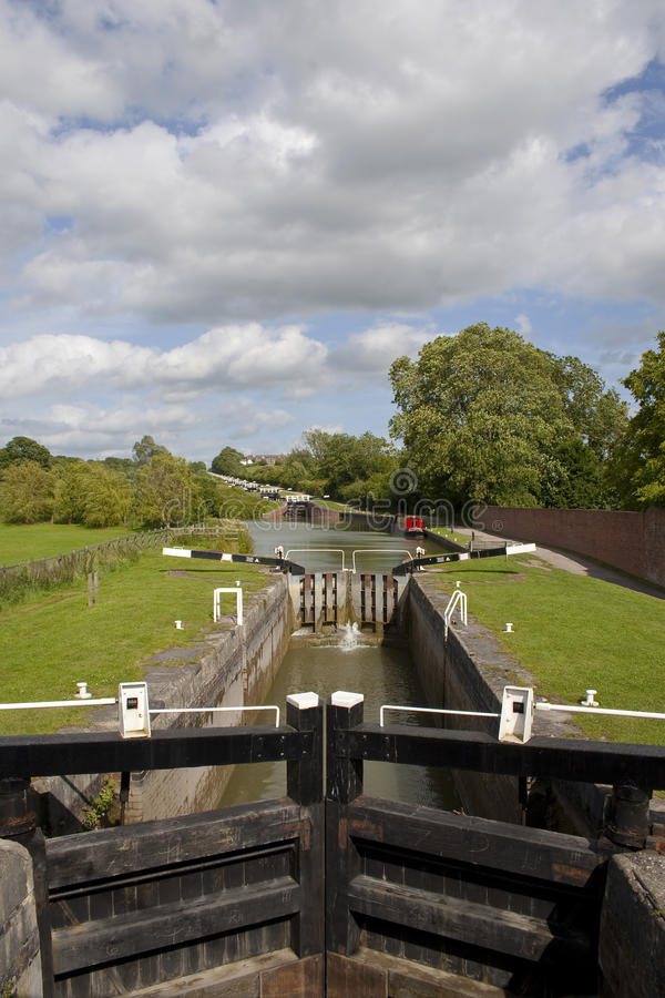 Download Longest Flight Of Canal Locks In England Royalty Free Stock Photo - Image: 20005015