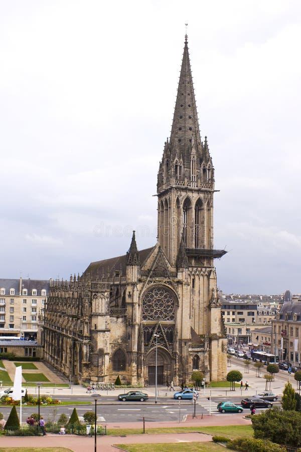 Caen-Kathedrale stockfotografie