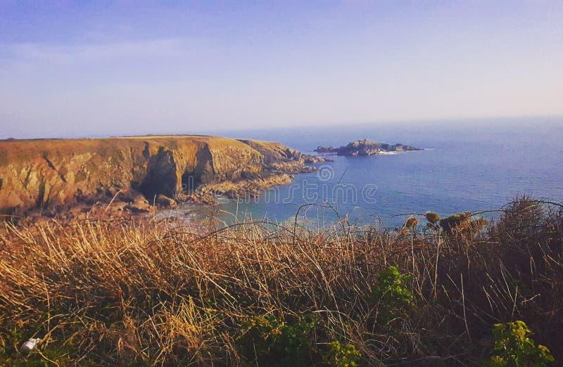 Caerfai coast royalty free stock images