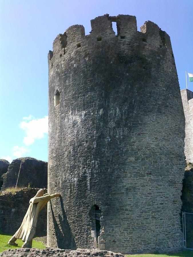 Caerfilly城堡 免版税库存图片