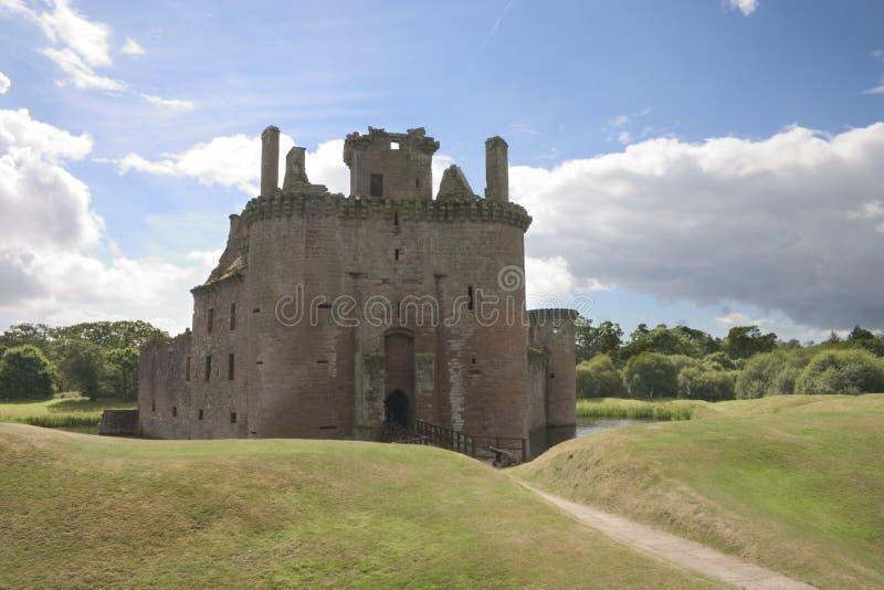 Download Caerlaverock Castle 3 stock image. Image of moat, water - 199639