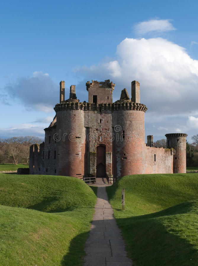 Caerlaverock Castle, Scotland stock photo