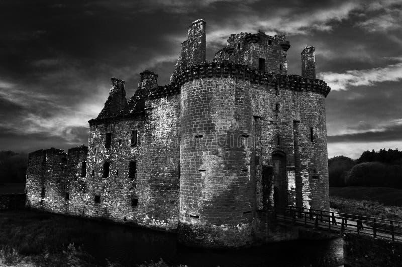 Caerlaverock Schloss lizenzfreies stockbild