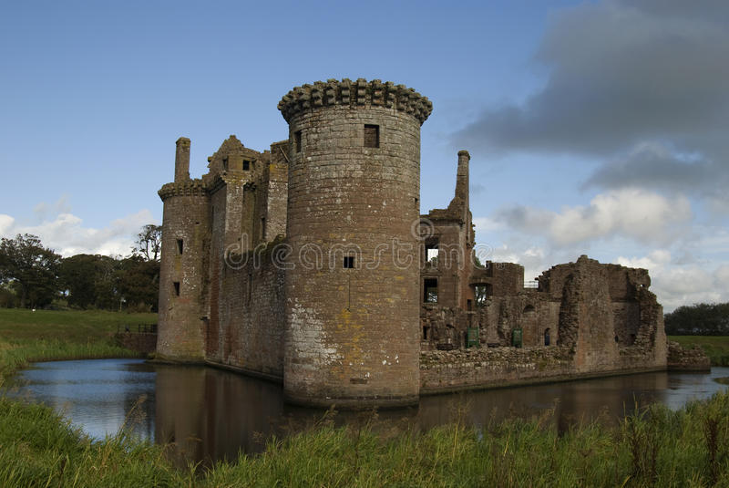 Caerlaverock Schloss, Dumfries und Galloway lizenzfreies stockfoto