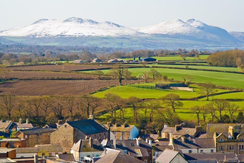 Caernarfon, вэльс стоковое изображение rf