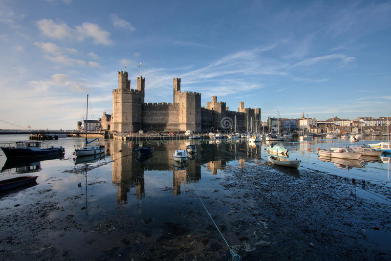 Download Caernarfon Castle stock photo. Image of tower, castle - 14853792