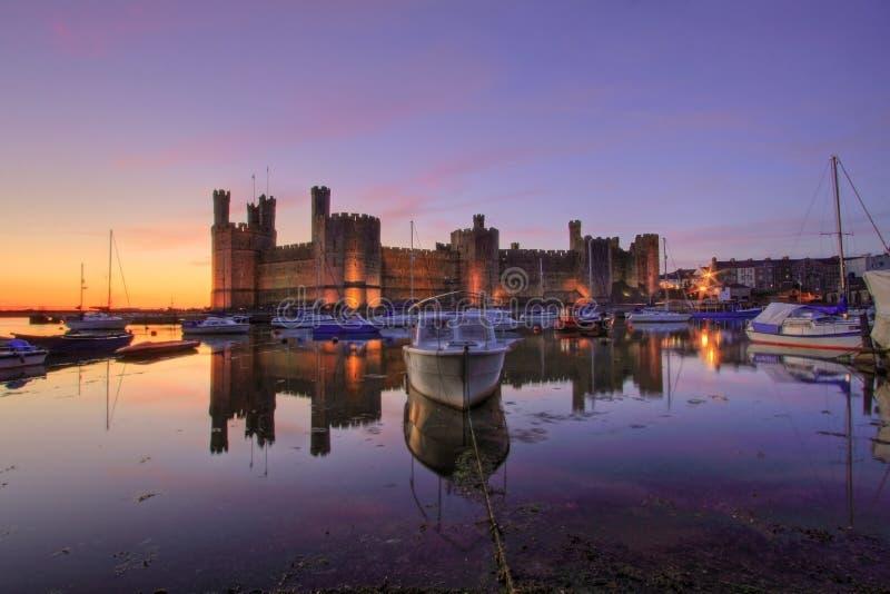 Caernarfon Schloss lizenzfreies stockbild