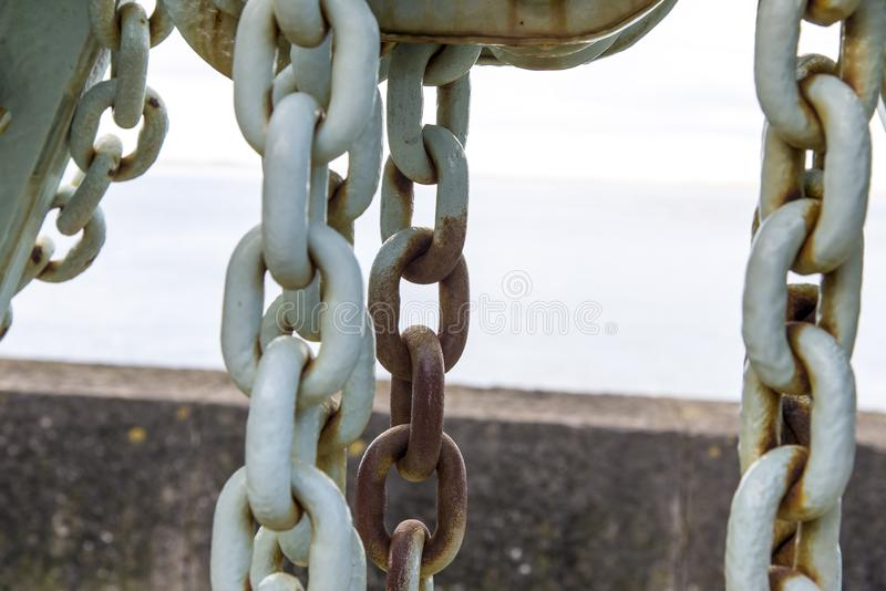 Caernarfon - Victoria Dock, alter dockside Kran stockfotografie