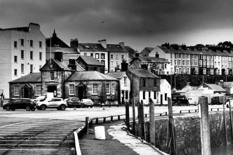 Caernarfonquay-side stock fotografie