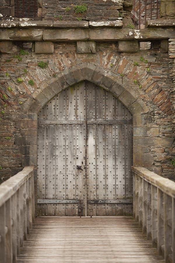 Caerphilly城堡南威尔士 库存照片