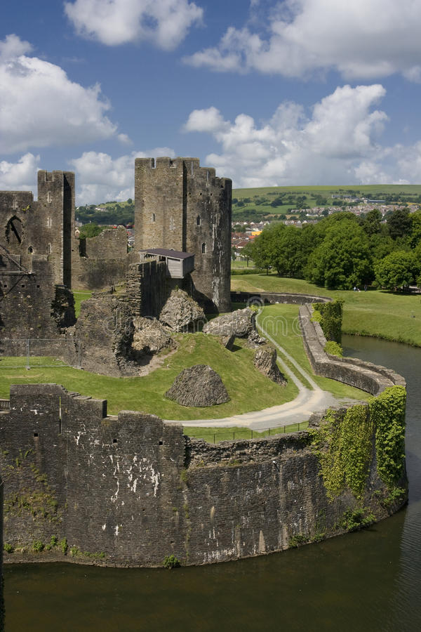 Free Caerphilly Castle Royalty Free Stock Photography - 9796117
