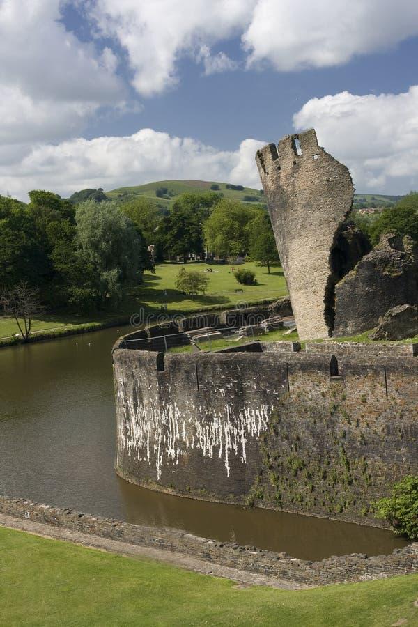 Caerphilly Schloss stockbilder
