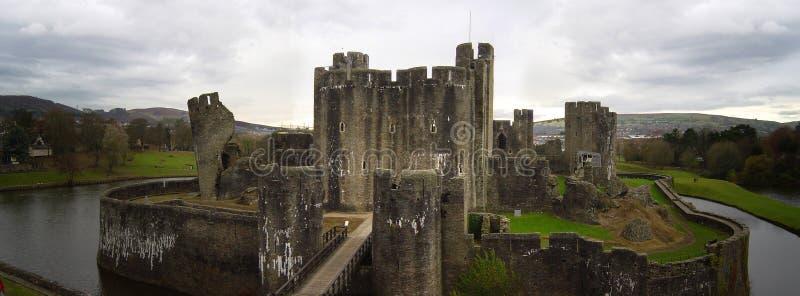 caerphilly slott royaltyfri bild