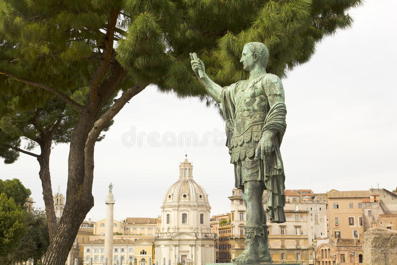 Caesar Augustus, Forum In Rome Stock Photography