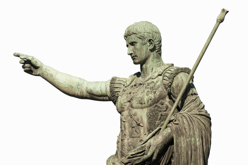 Caesar Augustus Rome royalty free stock photography