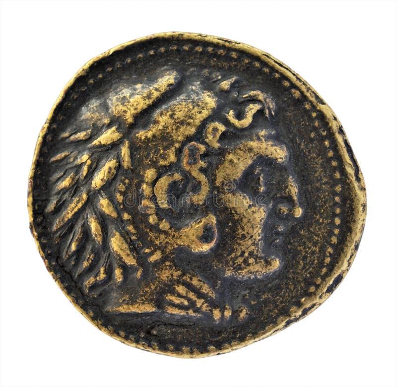 Caesar na moeda romana velha imagens de stock